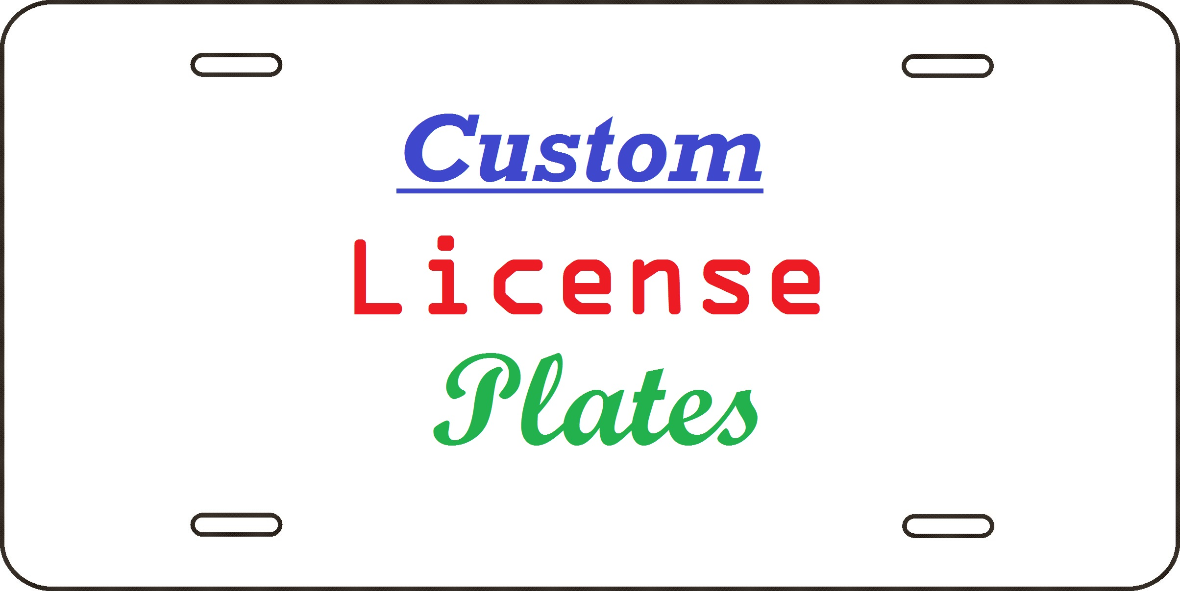 License Plate Template | Vehicle Graphics